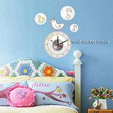 創意趣味DIY  壁貼掛鐘 (鳥聲鐘)