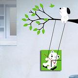 創意趣味DIY  壁貼掛鐘 (狗熊)