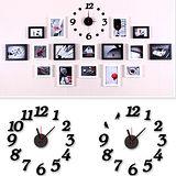 創意趣味DIY  壁貼掛鐘 (立體時鐘數字+小鳥牆貼)