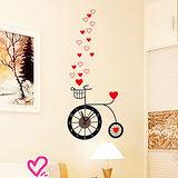創意趣味DIY  壁貼掛鐘 (愛心腳踏車)