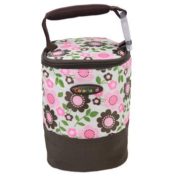 【Colorland】母乳保冷運輸袋副食品保溫袋(粉色小梅花)