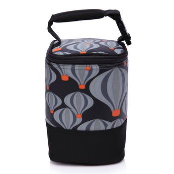 【Colorland】母乳保冷運輸袋副食品保溫袋(氣球花黑色)