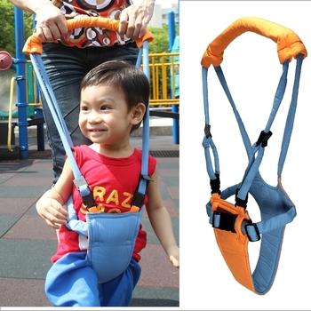 【Moon Walk】媽咪提籃式嬰兒學步帶學步繩(藍色)