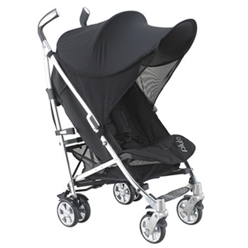 【Smart Start】嬰兒推車遮陽棚防紫外線防風罩(黑色)