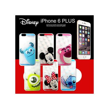 迪士尼授權正版 iPhone 6 PLUS 5.5吋 大頭娃透明彩繪軟式保護殼 手機殼