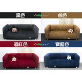 【Osun】一體成型防蹣彈性沙發套-厚棉絨溫暖柔順(1+2+3人座四色任選CE184)