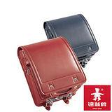 【達新牌】日本原裝全牛皮日式書包(藍/紅)