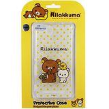 Rilakkuma 拉拉熊/懶懶熊 SONY Xperia C3 彩繪透明保護軟套-點點好朋友