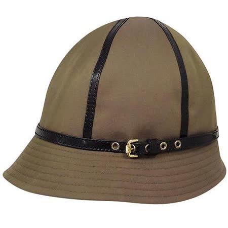 BURBERRY 咖啡色皮帶釦環漁夫帽【L】