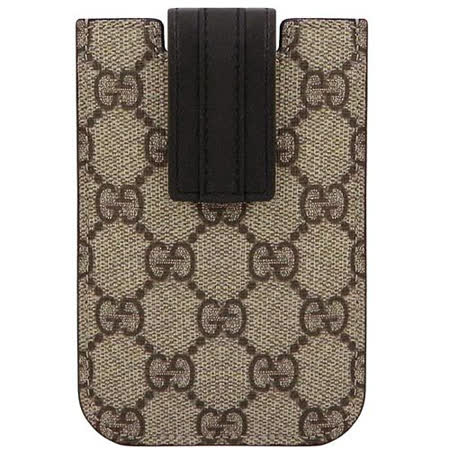 GUCCI 咖啡色雙G PVC iPhone 4/4S手機套