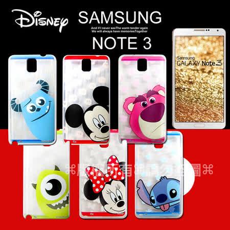 迪士尼授權正版 Samsung Galaxy Note 3 大頭娃透明彩繪軟式保護殼 手機殼
