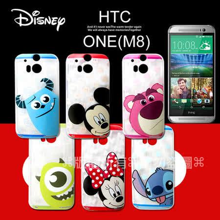 迪士尼授權正版 HTC ONE (M8) 大頭娃透明彩繪軟式保護殼 手機殼