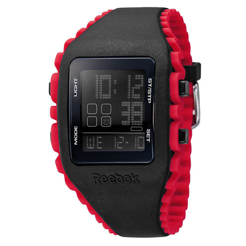Reebok Z1G系列光速飛躍電子腕錶-紅x黑