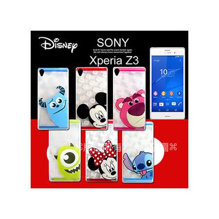 迪士尼授權正版 SONY Xperia Z3 / D6653 大頭娃透明彩繪軟式保護殼 手機套