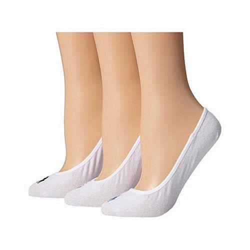 【Ralph Lauren】2015女馬球超低襯墊白色襪子3入組【預購】