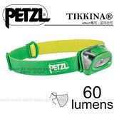 【法國Petzl】TIKKINA 頭燈(60流明)/CLASSIC 經典入門款_綠 E91HG