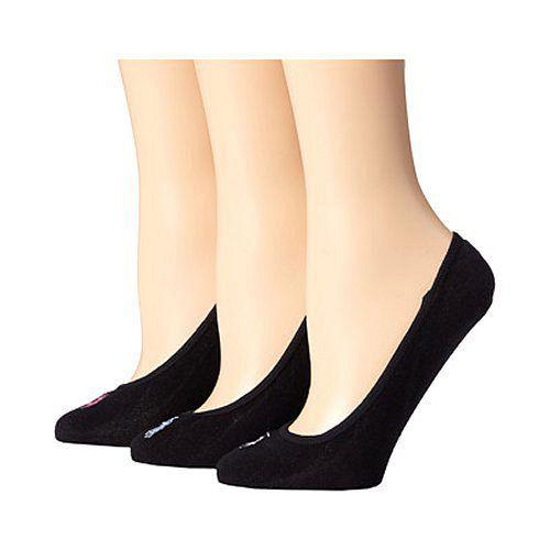 【Ralph Lauren】2015女馬球超低襯墊黑色襪子3入組【預購】
