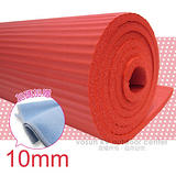 【VOSUN】※SGS國際認證※  NBR 專業單人細條紋單面壓紋瑜珈墊.睡墊(10mm) 贈送(束帶二條 .進口瑜珈袋) 珊瑚紅