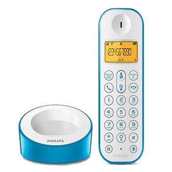 飛利浦無線電話(單機)-藍(D1201WA)