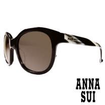 Anna Sui 日本安娜蘇 復古時尚大理石紋造型太陽眼鏡 (黑) AS823-009
