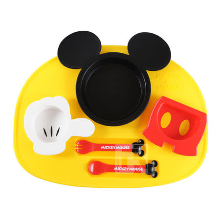 Disney造型幼兒餐具組-米奇