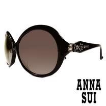 Anna Sui 日本安娜蘇 復古時尚經典玫瑰圖騰造型太陽眼鏡 (黑) AS851-001