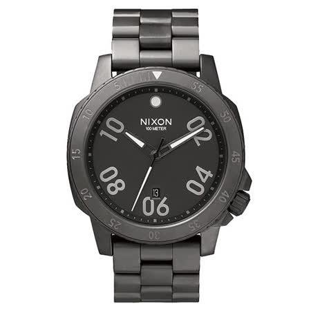 NIXON RANGER星際領航員時尚潮流腕錶-深灰