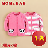 (購物車)【MOM AND BAB】粉嫩小熊貓純棉雙面可穿小外套 (一件兩穿)(6M~3T)