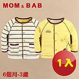 (購物車)【MOM AND BAB】小小動物園純棉雙面可穿小外套(一件兩穿)(6M~3T)