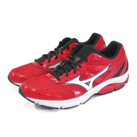 (男)MIZUNO美津濃 WAVE IMPETUS 2 慢跑鞋 紅/黑-J1GE141304
