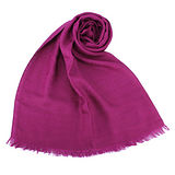 GUCCI 經典緹花斜紋絲混羊毛圍巾-紫紅色