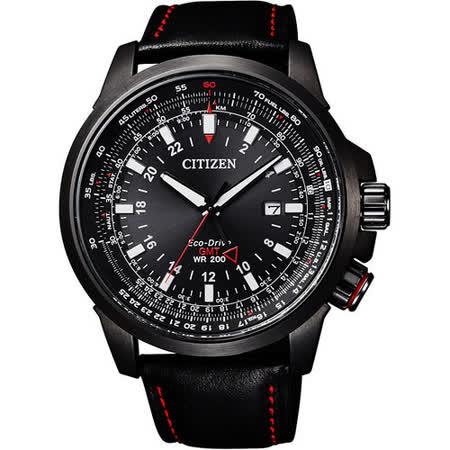 CITIZEN PROMASTER SKY系列的新一代型格機師錶-皮帶x黑