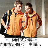 【SAIN SOU】防水/防風/透氣/可拆式防風帽兩件式外套(男)T27003