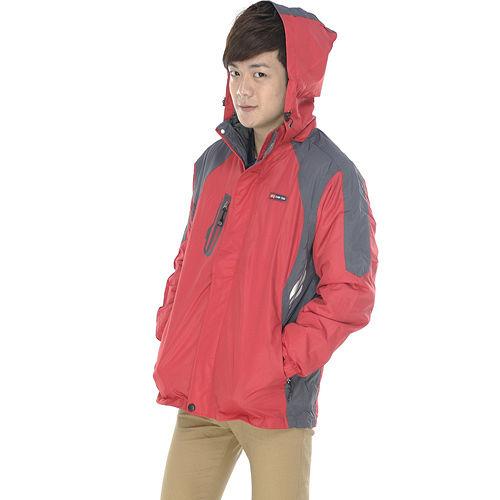 ~SAIN SOU~防水防風透氣保暖 可拆式防風帽兩件式外套 中性款 T27301