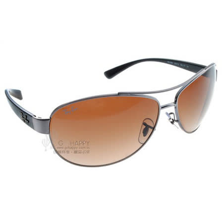 Ray Ban雷朋太陽眼鏡 (銀-棕)#RB3386 00413-63mm