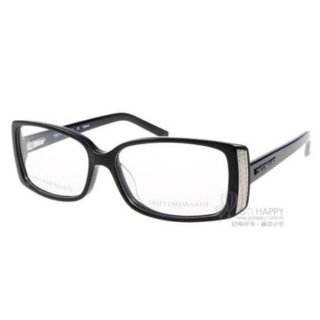 Trussardi 眼鏡 經典極簡款#黑TR12704 BK