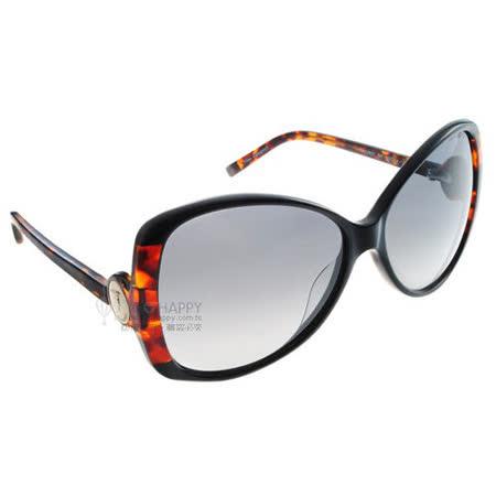 TRUSSARDI太陽眼鏡 (黑琥珀色) #TR12827 BK