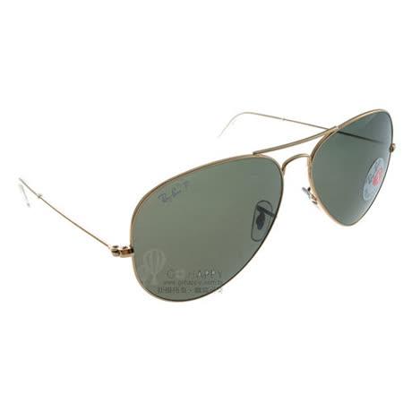 Ray Ban雷朋太陽眼鏡 (金-綠色) #RB3025 00158偏光-62mm大版