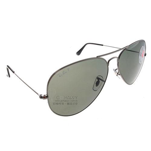 Ray Ban雷朋太陽眼鏡 (槍銀-綠色) #RB3025 00458偏光大版
