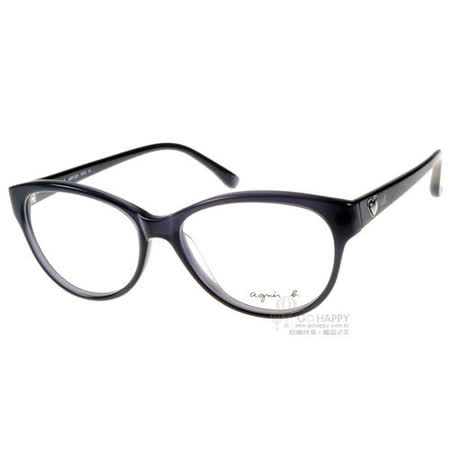 agnes b. 光學眼鏡 (愛心灰黑-藍色) #ABP234 W22