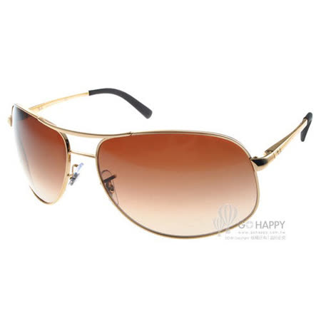 RAY BAN太陽眼鏡 RB3387 00113 -67mm (金-漸層棕色) 經典品牌