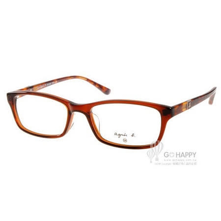 agnes b.眼鏡 法式簡約 (咖啡琥珀) #AB2089 TWA