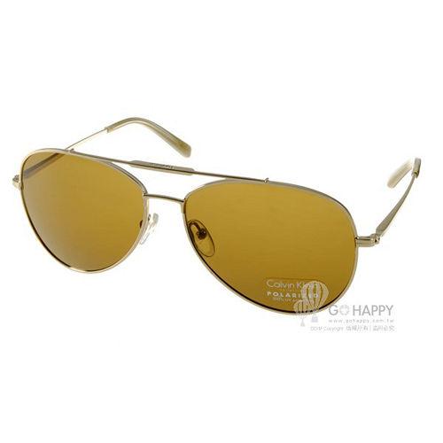 Calvin Klein 太陽眼鏡 時尚飛官款 (金) # CK7477SP 718 偏光