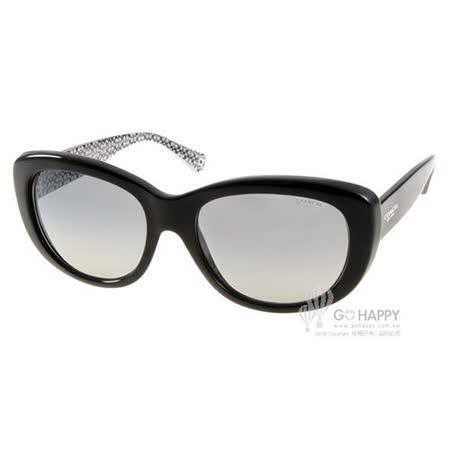 COACH太陽眼鏡 美式優雅(黑-白)# COS8083 521411
