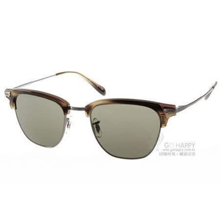 Oliver Peoples太陽眼鏡 復古眉框 (墨綠)# OP BANKS SUN 507652