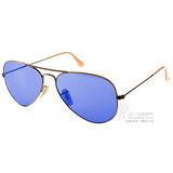 RAY BAN太陽眼鏡 水銀鏡面飛官款(古銅-藍) # RB3025 16768 -58mm
