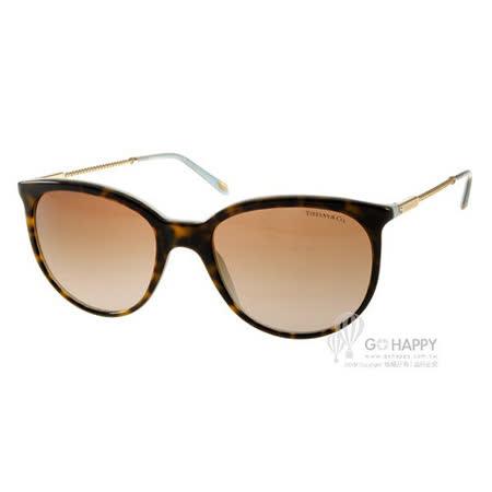 Tiffany&CO.太陽眼鏡 別緻優雅經典貓眼 (琥珀金-蒂芬妮藍) #TF4087B 81343B