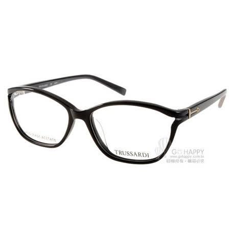 【好物推薦】gohappy 線上快樂購TRUSSARDI光學眼鏡 簡約微貓眼 (黑) #TR12536 BK好用嗎太平洋 百貨 中 壢 店