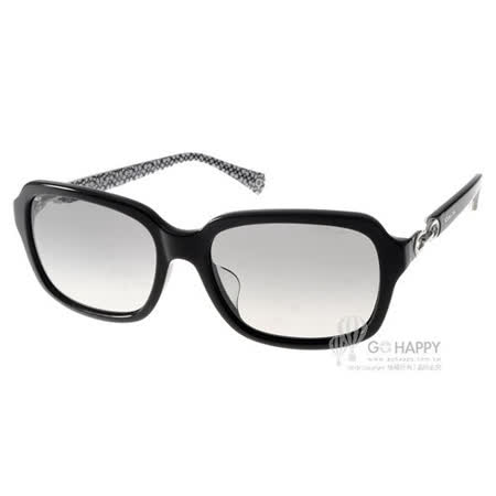 COACH太陽眼鏡 時尚簡約方框(黑)#COS8104F 521411
