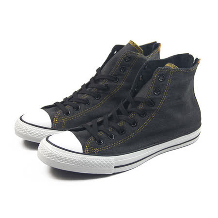 (U系列)CONVERSE Chuck Taylor All Star Back Zip 帆布鞋 黑-147914C